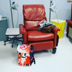 Chemo Room for Herceptin with my #badassbackpacks